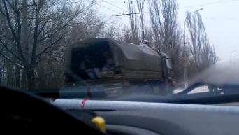 Через Краснодон прошла колонна военной техники. Видео