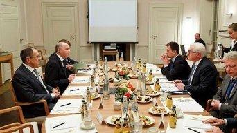 Главы МИД нормандской четверки на переговорах в Берлине