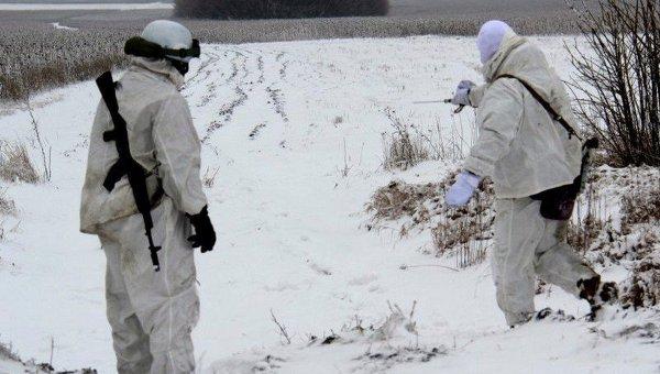 Украинские саперы обезвреживают боеприпасы на Донбассе