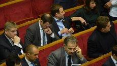 Депутаты в зале заседаний Верховной Рады. Архивное фото