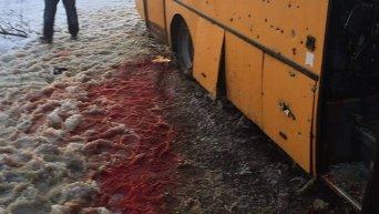 Обстрел автобуса под Волновахой