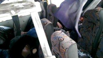 Расстрелянный автобус под Волновахой