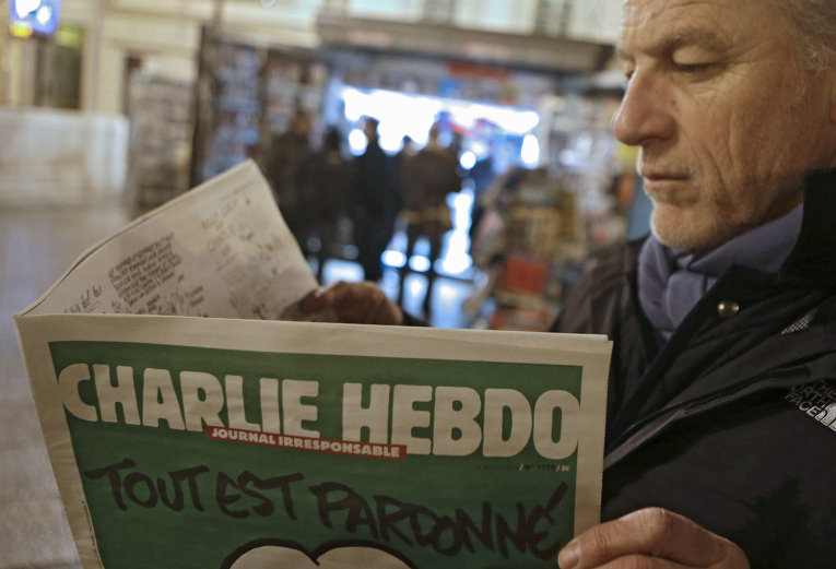 Новый выпуск журнала Charlie Hebdo во Франции