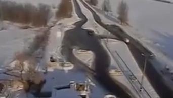 Видео обстрела блокпоста возле Волновахи