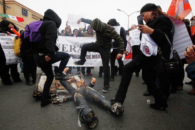 Акция протеста в Мексике