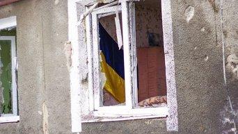 Последствия обстрела в Славяносербске Луганской области