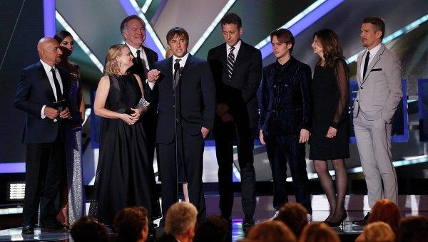 Съемочная группа фильма Отрочество на вручении премии Выбор критиков