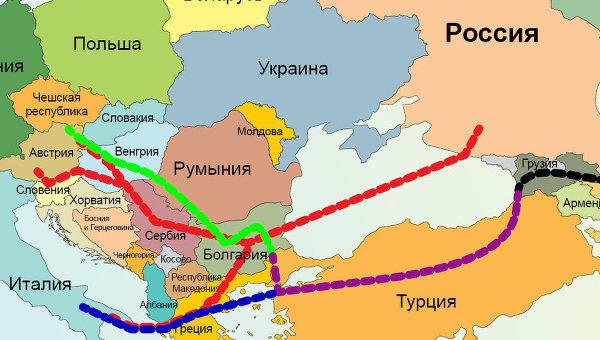 Поставки Газпрома в Европу в обход Украины