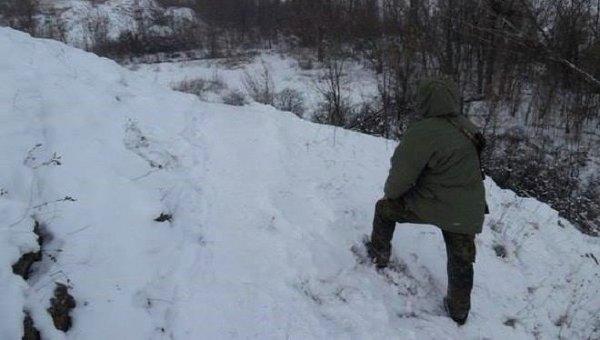 Боец полка Азов в Донецкой области