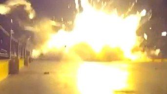 Взрыв первой ступении ракеты Falcon 9