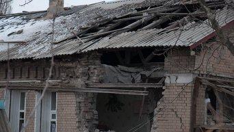 Артобстрел города Алмазная в Луганской области