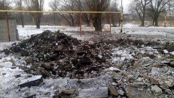 Артобстрел города Алмазное в Луганской области