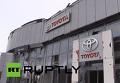 Разрушения в выставочном зале Toyota близ донецкого аэропорта. Видео