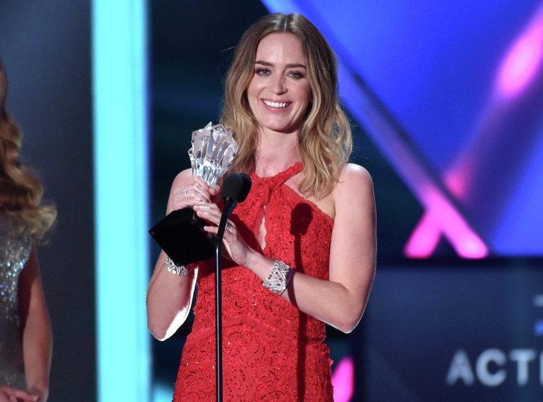 Эмили Блант на вручении кинопремии Выбор критиков
