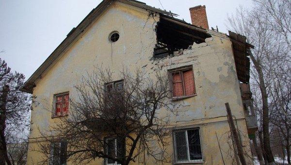 Обстрел города Счастье Луганской области