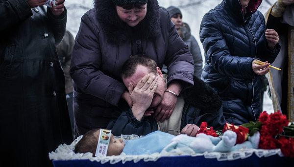 В Донецке похоронили ребенка