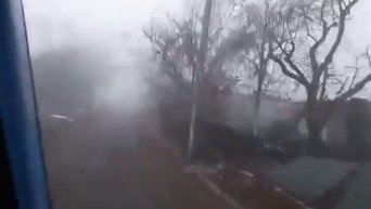Разрушеное село вблизи донецкого аэропорта. Видео