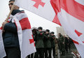Прощание с погибшим бойцом АТО Томасом Сухиашвилли, гражданином Грузии