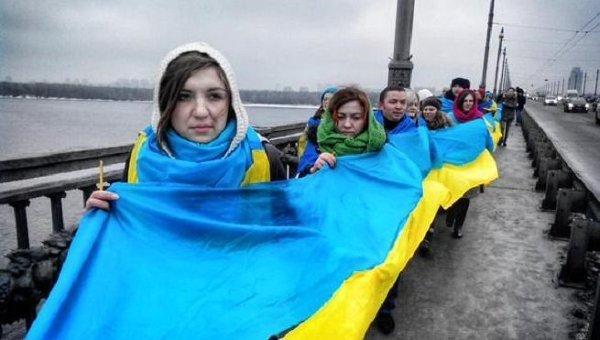 Акция ко Дню соборности в Киеве