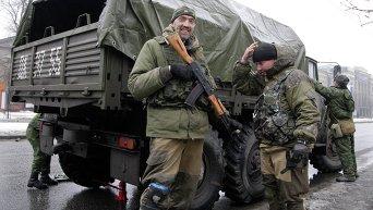Ополченцы ДНР в Донецке