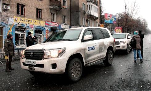 Автомобиль ОБСЕ в Донецке
