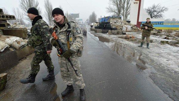 Блокпост ВСУ в Константиновке