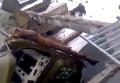 БМП ополченцев провалилась на мосту. Видео