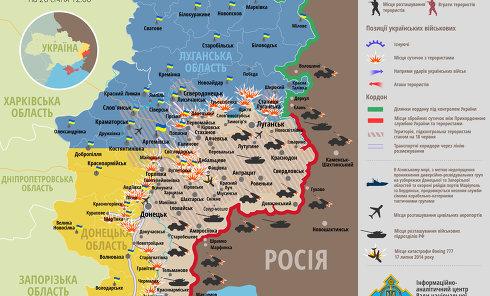 Ситуация в зоне АТО на 26 января. Карта СНБО