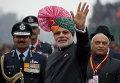 Премьер Индии Нарендра Моди на параде