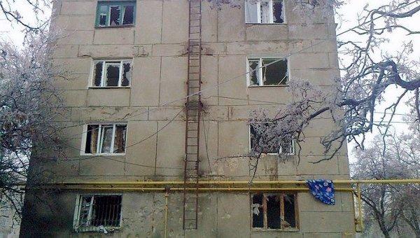 Обстрел города Попасная Луганской области. Архивное фото