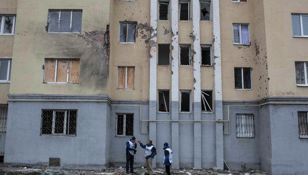 Представители ОБСЕ в Мариуполе. Архивное фото