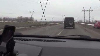 Теракт вблизи Марьинки. Видео