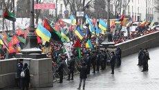 Акция протеста работников угледобывающих предприятий возле Кабмина