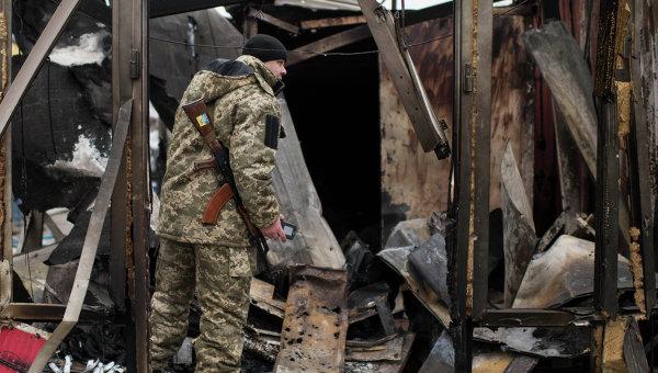 Украинский военный в Мариуполе