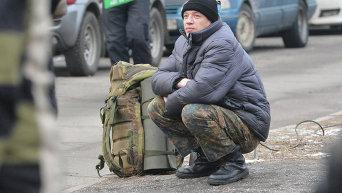 Отправка призывников в воинскую часть под Киевом