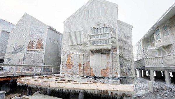 Последствия снегопада в штате Массачусетс