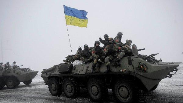 Украинские военнослужащие в селе Орехово Луганской области. Архивное фото