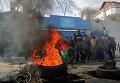 Палестинские протестующие в северной части сектора Газа