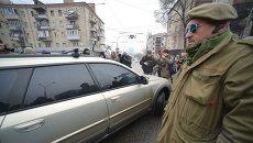 """Митинг """"Айдара"""" под Минобороны"""