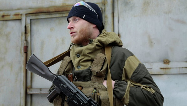 Ополченец в Донбассе