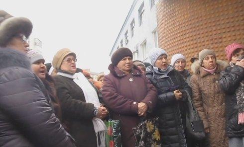 Митинг против мобилизации в Краматорске. Видео