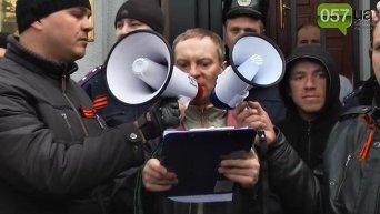 Ополченец Моторола  на митинге в Харькове. Видео