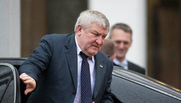 Посол Украины в Белоруссии Михаил Ежель перед началом переговоров контактной группы по Украине в Минске
