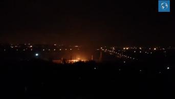 Пожар на территории завода Донгормаш в Донецке. Видео