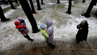 Украинские беженцы в Святогорске