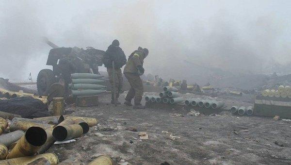 Позиции украинских силовиков под Дебальцево