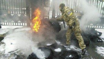 Митинг Айдара под зданием Минобороны Украины