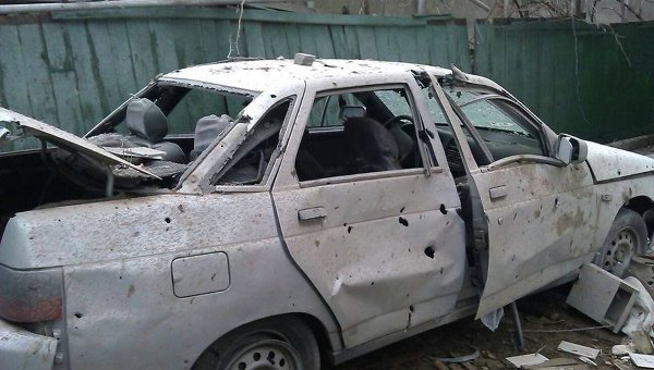 Обстрел улицы Розы Люксембург в Донецке