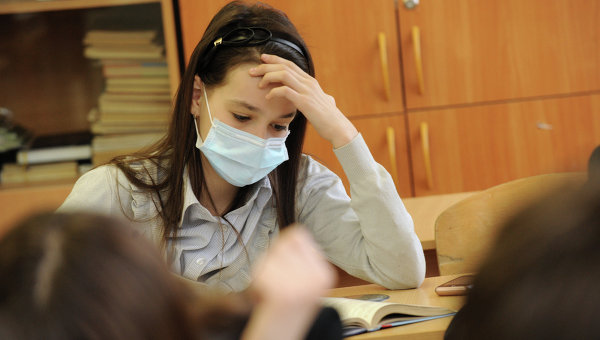 Заболеваемость гриппом и ОРВИ среди школьников. Архивное фото
