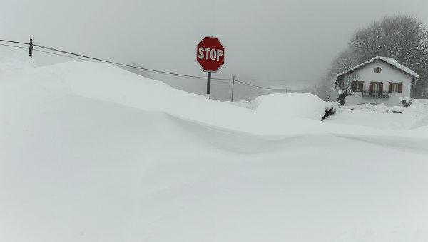 Снегопады. Архивное фото